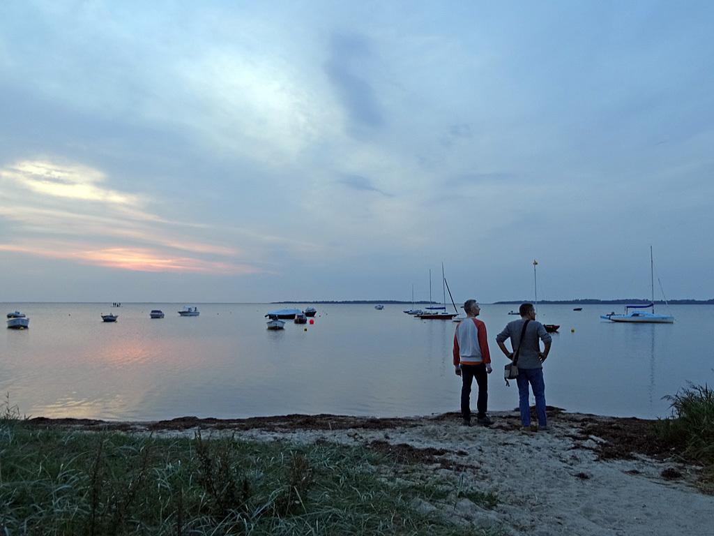 Schreibreise mit Sonnenuntergang
